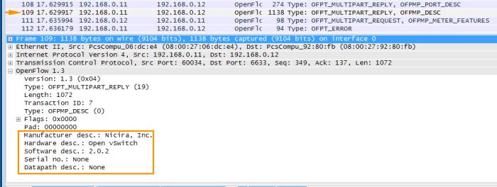 OpenFlow Wireshark