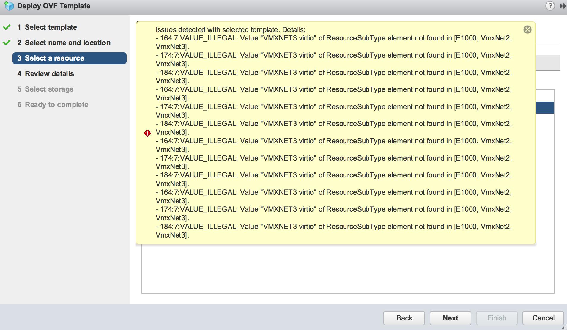 Issue deploying CSR on ESXi vSphere 6.5 | Overlaid